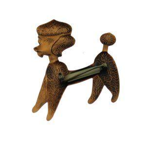 Vintage Jewelry - Vintage Copper Poodle Brooch